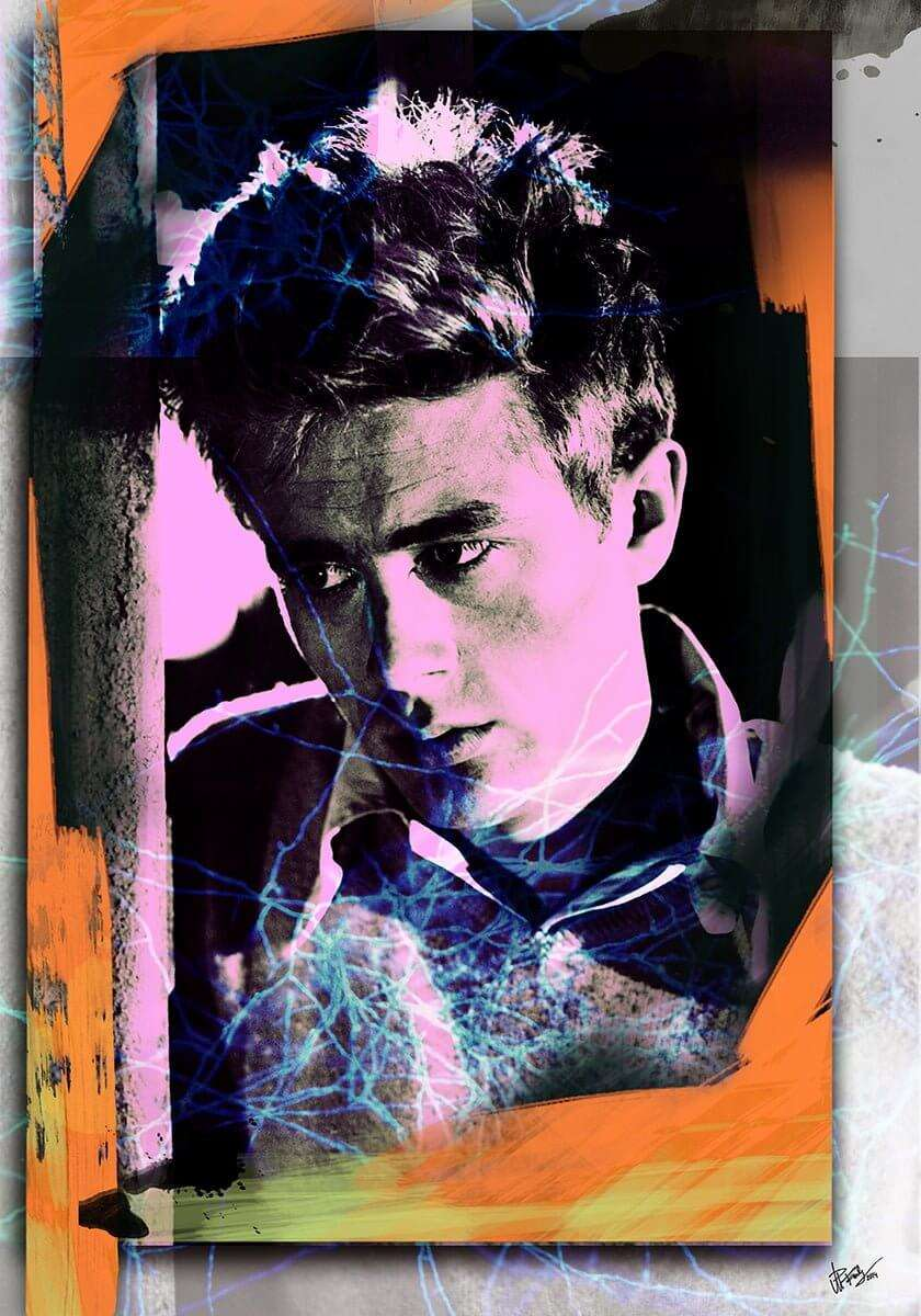 James Dean revamped Portrait