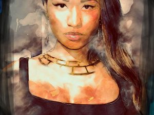 Nicki Minaj revamped portrait