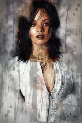 Rihanna #3 revamped Portrait